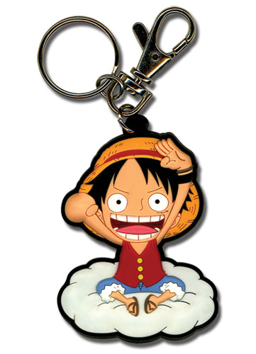 ONE PIECE LUFFY ON THE CLOUD PVC KEYCHAIN