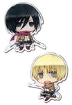 ATTACK ON TITAN - MIKASA AND ARMIN METAL PIN SET