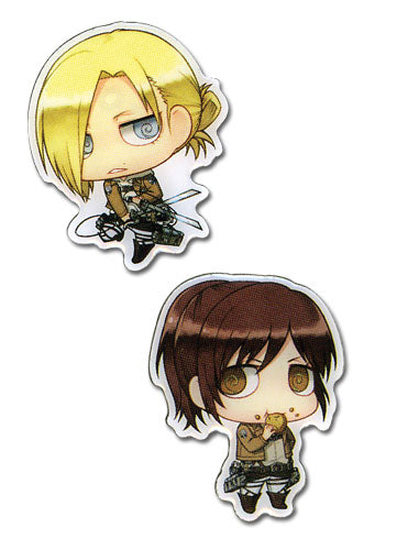 ATTACK ON TITAN - SASHA & ANNIE METAL PIN SET