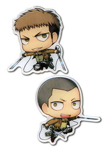 ATTACK ON TITAN - SD JEAN & CONNY METAL PINS