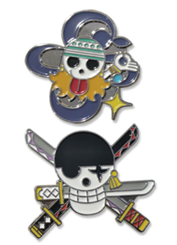 ONE PIECE - NAMI & ZORO SKULL PIN SET