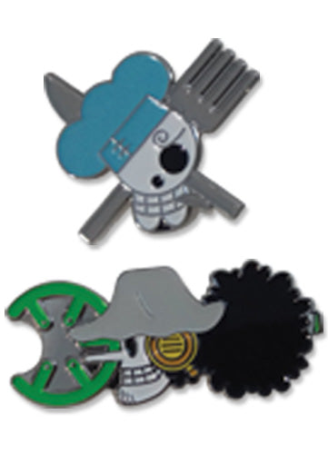 ONE PIECE - SANJI & USOPP SKULL PIN SET