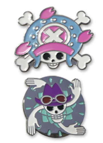 ONE PIECE - CHOPPER & ROBIN SKULL PIN SET