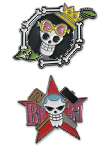 ONE PIECE - BROOKE & FRANKY SKULL PIN SET PIN SET