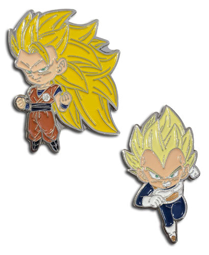 DRAGON BALL SUPER - SS3 GOKU & SS VEGETA ENAMEL PIN SET