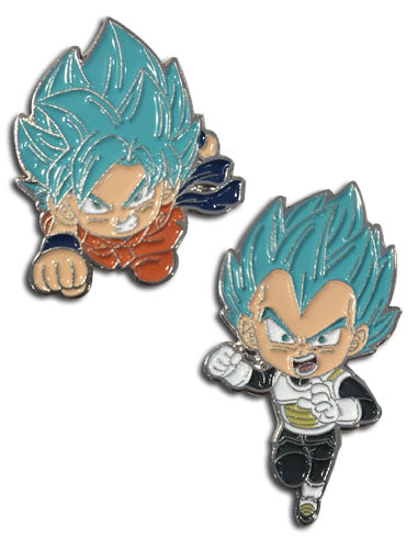 DRAGON BALL SUPER - SSGSS & SSGSS VEGETA ENAMEL PIN SET