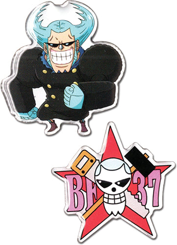ONE PIECE - FRANKY & FRANKY SKULL METAL PINS