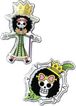 ONE PIECE - BROOK & BROOK SKULL METAL PINS