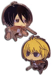 ATTACK ON TITAN S2 - SD MIKASA & ARMIN PINS