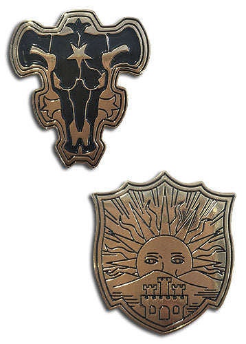 BLACK CLOVER - THE BLACK BULLS & THE GOLDEN DAWN PIN SET