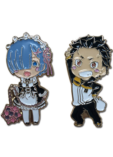 RE:ZERO - SUBARU & REM PIN SET