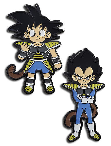 DRAGON BALL SUPER BROLY - GOKU KID & VEGETA KID METAL PIN SET