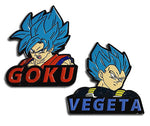 DRAGON BALL SUPER BROLY - SSGSS GOKU & SSGSS VEGETA PINS