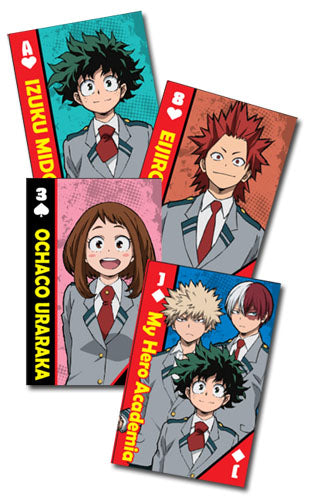 MY HERO ACADEMIA - SCHOOL UNIFORMS GROUP PLAYING CARDS