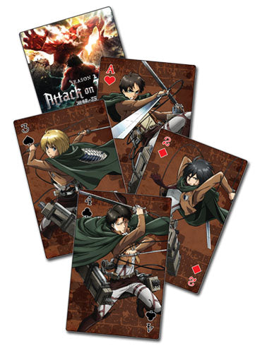 ATTACK ON TITAN SEASON 2 - GROUP PLAYING CARDS