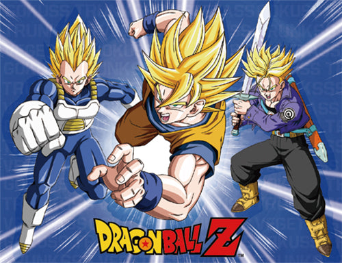 DRAGON BALL Z - GOKU, TRUNKS & VEGETA SUPER SAIYAN THROW BLANKET
