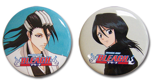 BLEACH BYAKUYA AND RUKIA BUTTON SET