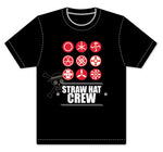 ONE PIECE - STRAW HAT CREW SYMBOLS SCREEN PRINT ADULT SHIRT