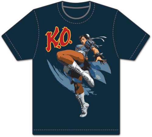 STREET FIGHTER V -CHUN LI KO MEN'S SCREEN PRINT ADULT SHIRT