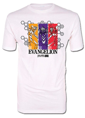 EVANGELION - GROUP PANELS SCREEN PRINT ADULT SHIRT