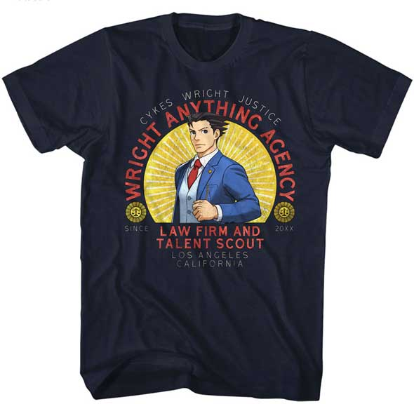 Ace Attorney Wright Anything Agency Adult Shirt