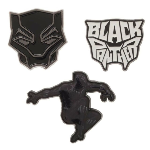Black Panther Pin Set - black & white