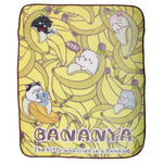 Bananya Fleece Throw Blanket