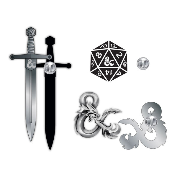 D&D Lapel Pins - Set of 3
