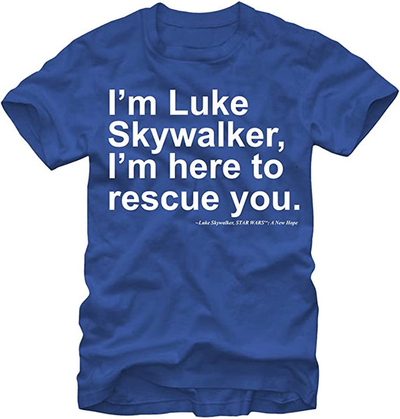 Star Wars Luke Skywalker Here to Rescue You Adult Shirt