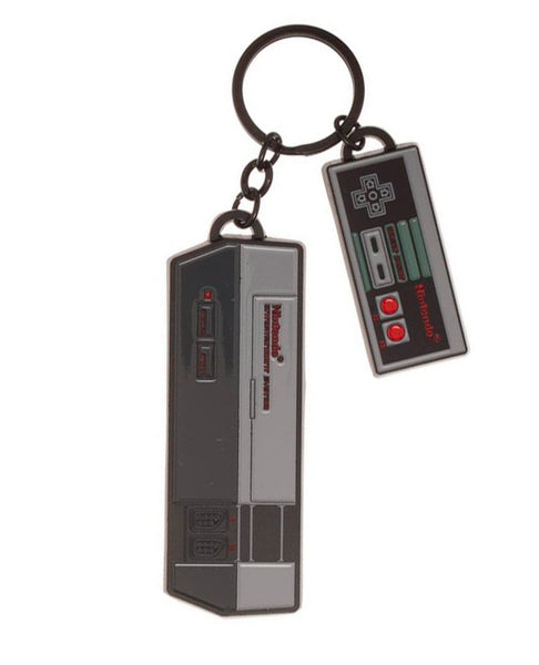 Nintendo NES Console and Controller Metal Keychain