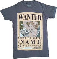 ONE PIECE - WANTED NAMI SCREEN PRINT ADULT SHIRT