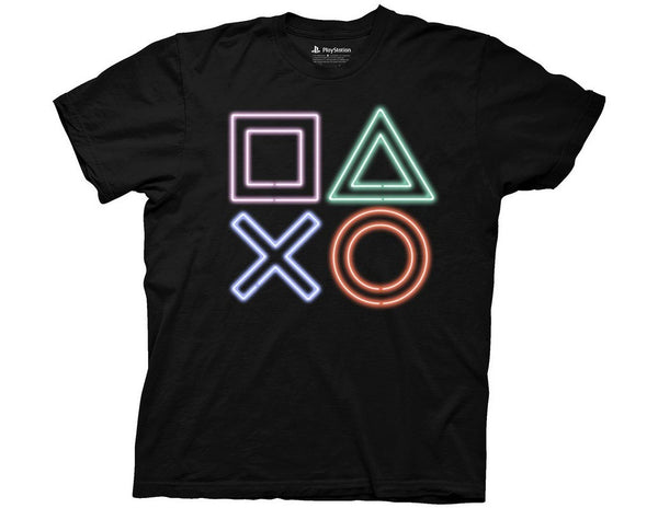 PLAYSTATION NEON ICONS ADULT SHIRT