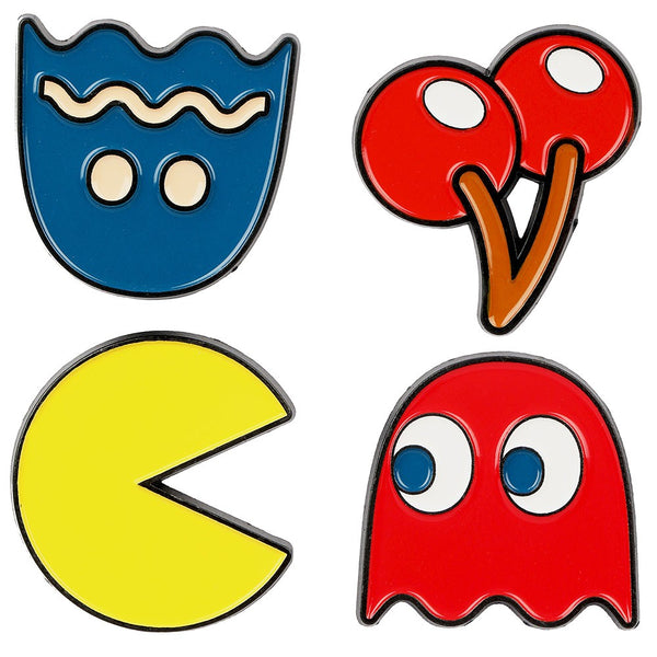 Pac-man 4 Pack Lapel Pins