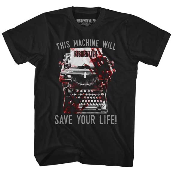 Resident Evil Save! (This Machine Will Save Your Life) Adult Shirt