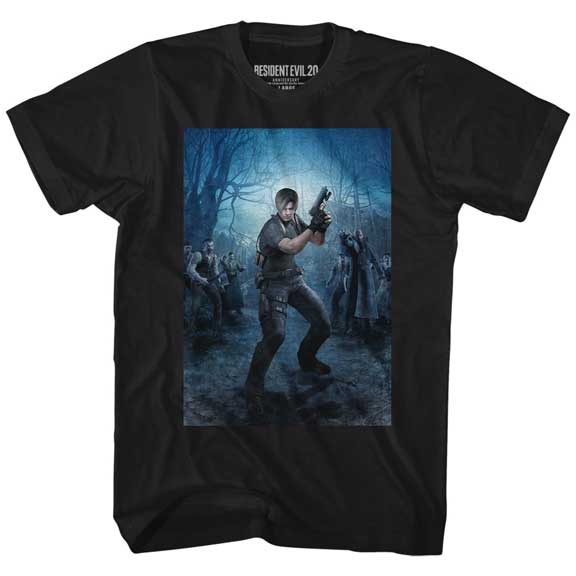Resident Evil RE4 Leon Powerstance Adult Shirt
