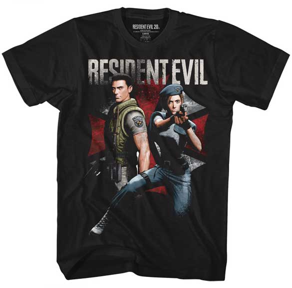 Resident Evil Chris and Jill Adult Shirt
