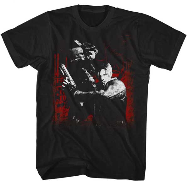 Resident Evil Sawit - Leon and Chainsaw Ganado - Adult Shirt