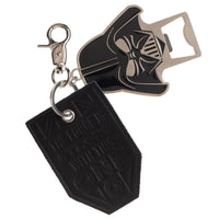 Star Wars Darth Vader Leather Tag & Bottle Opener Metal Keychain