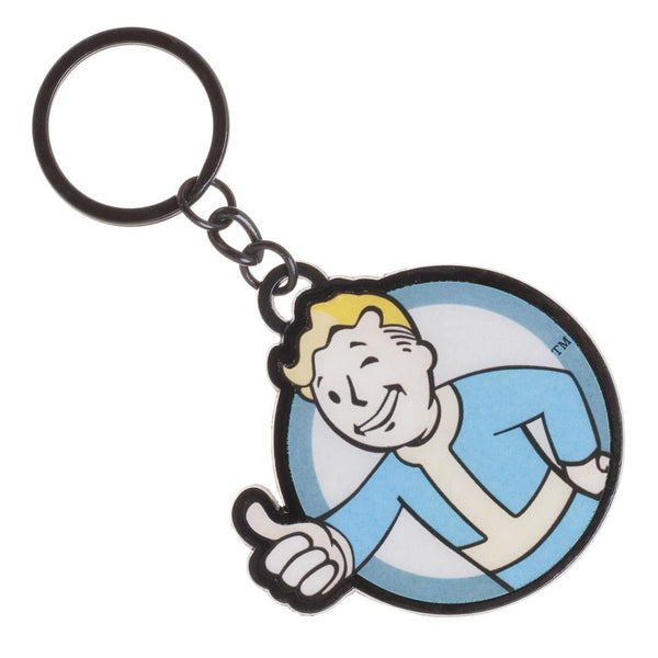 Fallout Vault Boy Metal Keychain