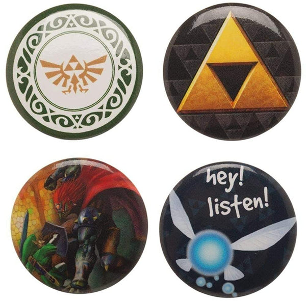 The Legend of Zelda 4 Button Set