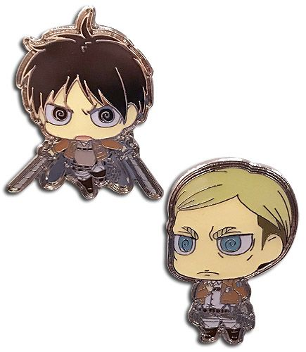 Attack on Titan Pin Set - Eren and Erwin