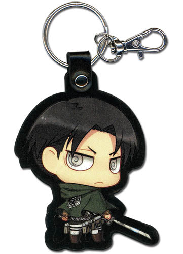 ATTACK ON TITAN - SD LEVI PU LEATHER KEYCHAIN