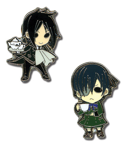 Black Butler Pin Set - Sebastian and Ciel