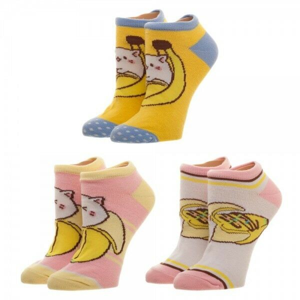 Bananya 3 Pair Ankle Socks
