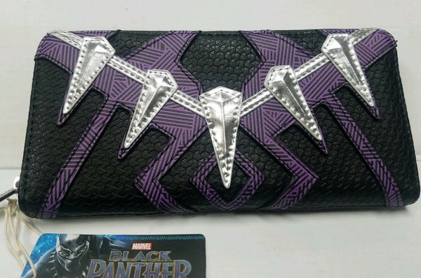 Loungefly Marvel Black Panther Zip Around Wallet Suit Up Wallet Purple/Black