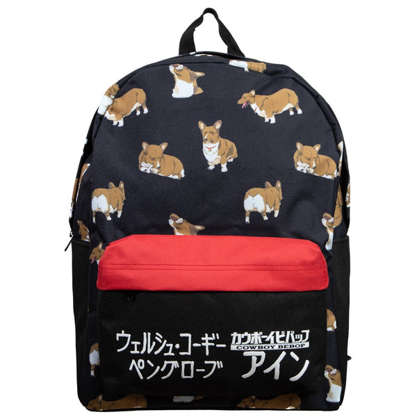 Cowboy Bebop Ein Corgi Kanji Laptop Backpack