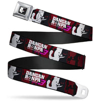 DANGANRONPA MONOKUMA SMILING FACE WAVING POSE SEATBELT BELT