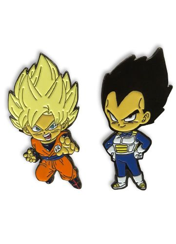 DRAGON BALL SUPER - VEGETA & GOKU PIN SET