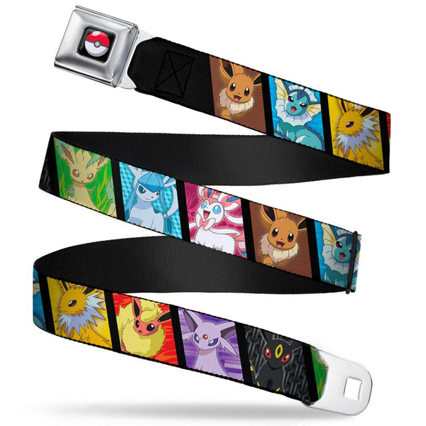 Pokemon Eeveelutions Panels Seatbelt Belt by Buckle-Down