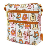 LOUNGEFLY X STAR WARS PASTEL YUB NUB EWOK AOP NYLON PASSPORT BAG